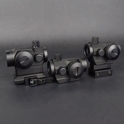 Óptica de caça tático mini 1x22 red green dot sight 5 modelos ajuste brilho riflescope lente reflexo