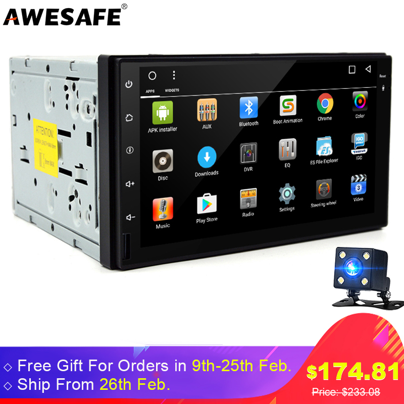 7 2 Din Android 6 0 Car DVD Radio Tap PC Tablet GPS Navigation BT Wifi