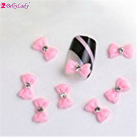 BellyLady 100pcs Bowknot Design 3D Resin Charms DIY False Nails Art Ideas Facile Arts Crafts Accessories