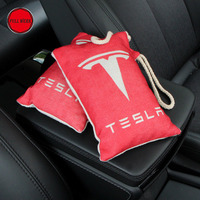Car Air Freshener Bamboo Charcoal Activated Carbon Bag Solid With Tesla Logo For Tesla Model S