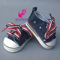 Завод оптовых 18 дюймов американская девушка Жан 7 см кукла Обувь sneacker для Reborn Baby Doll Спорт Обувь