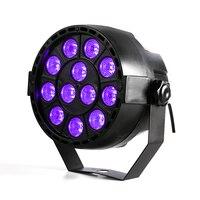 Alto Potere 36 W 12 LEDs Suono Attivo UV Ha Condotto Fase Par luce Ultravioletta Led Spotligh Lampada per Disco DJ Proiettore Macchina Del Partito