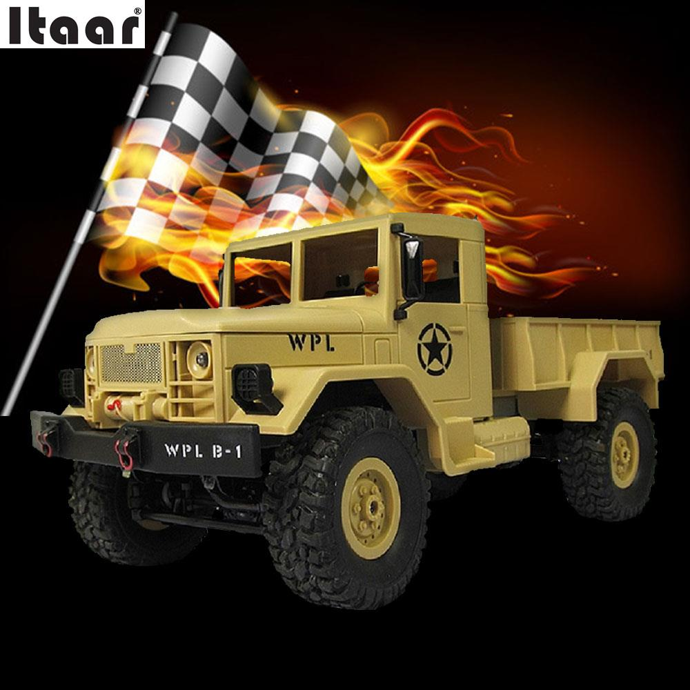 WPLB-14 RC Military Toy Off Road Vehicle Remote Control Kids Children Racing Car mini rc car 1 28 2 4g off road remote control frequencies toy for wltoys k989 racing cars kid children gifts fj88