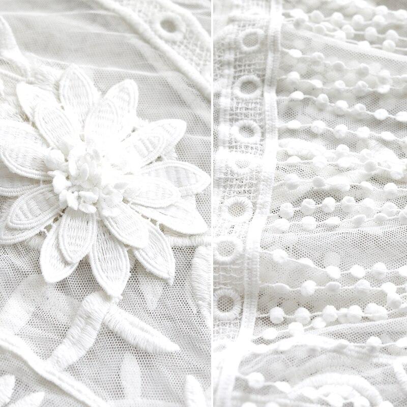 G495017 mujer Blusa de encaje camisa femenina de manga larga primavera cuello en V temperamento blusa camisa sólido casual Tops - 5