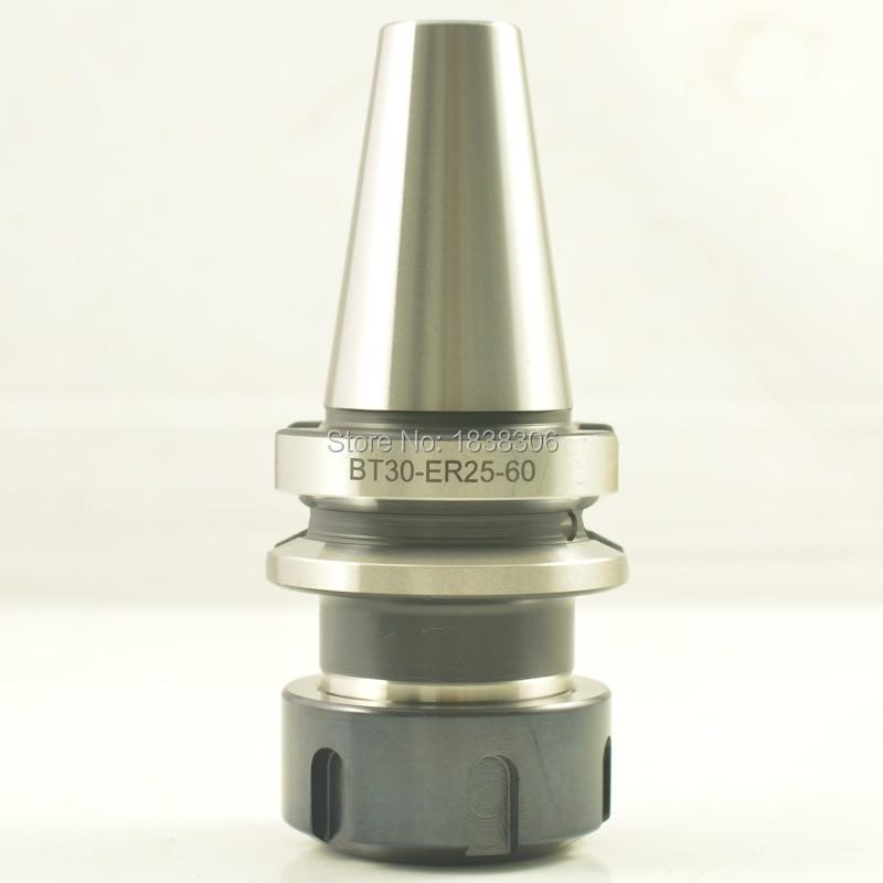 1pcs BT30-ER25UM-60 L  G2.5/24000-30000  SPRING COLLET CHUCK CNC MILLING TOOL HOLDER 1 pcs bt30 er25 100l g2 5 24000 30000 spring collet chuck cnc milling tool holder