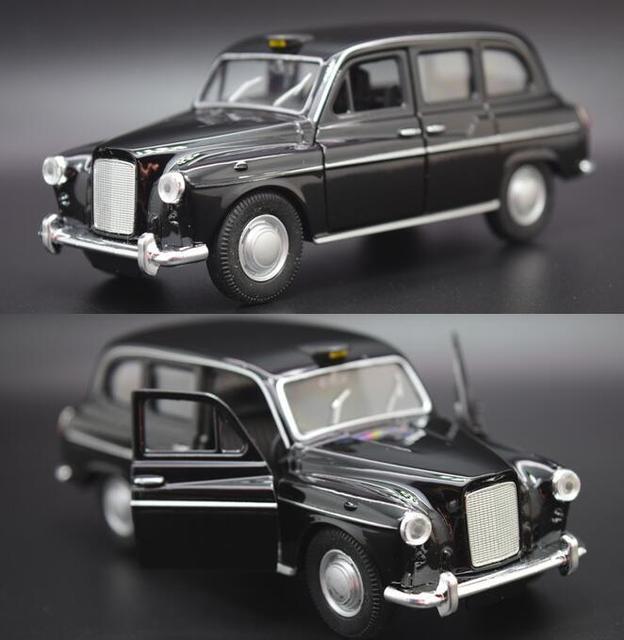 Candice Guo Alloy Car Scale Model Britain London New Black Taxi Vehicle Motor Pull Back Baby Christmas Present Birthday Gift 1pc