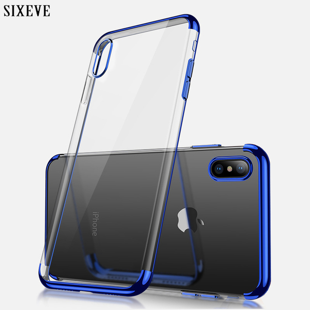 32307262824 SIXEVE Silicone Luxury Clear Case for iPhone X 10 XS Max XR iPhone 6 S iPhone  7 8 Plus 6Plus 6SPlus 7Plus 8Plus cell Phone Cover