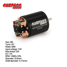 SURPASS HOOBBY 540 35T Brushed Motor 3.175mm Shaft for 1/10 RC Off road Racing Car Vehicle Part Accessories