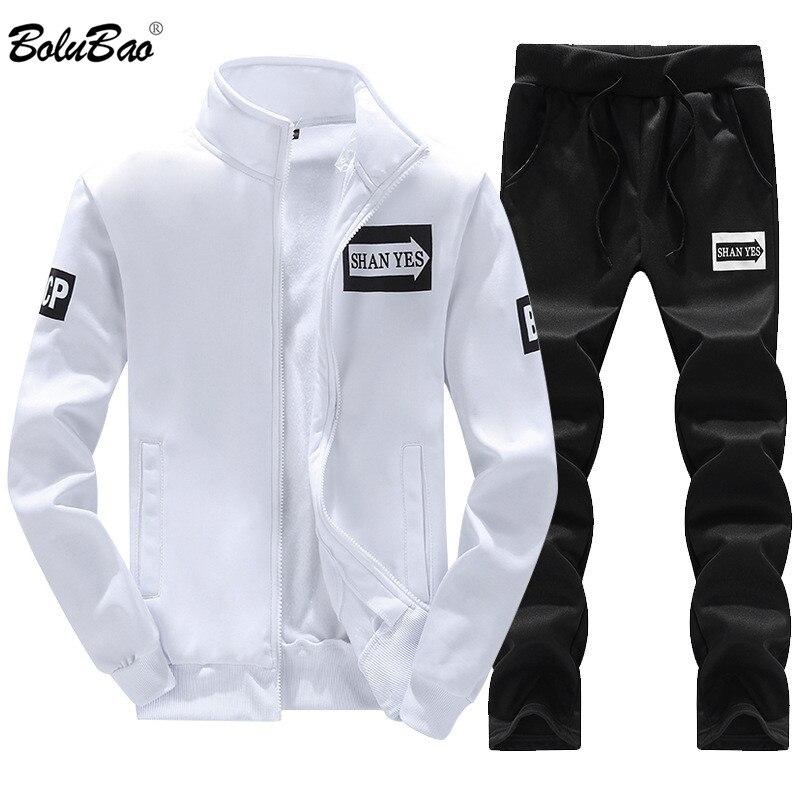 BOLUBAO 2018 Warm Tracksuit Zipper Hoodies Men's Sportswear Tracksuit Autumn Brand Sportsuits Fashion 2 Piece Mens Sets