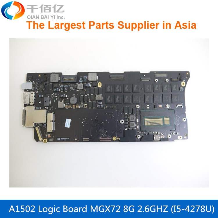 Laptop Mother board A1502 Logic board For MacBook Pro Retina 13 MGX72 2 6GHZ 8G i5