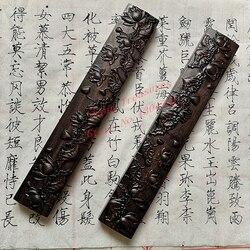 Papel de madera Natural de pisapapeles de caligrafía china tamaño grande 2 uds. Diseño de loto suministros de pintura china