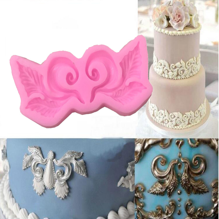 Fovor Lace Flower Border Silicone Moulds Cake Decorating Mould