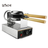 LSTACHi 220V 110V Commercial Electric Chinese Hong Kong Eggettes Puff Cake Waffle Iron Maker Machine Bubble