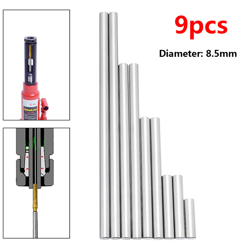9pcs 8.5mm Ejector Pins Set Used To Push Rifling Buttons High Hardness Full Specifications Reamer Kits Machine Tools Accessories