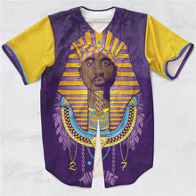 Real US American Size Tupac Pharaoh - Thug Life. high quality 3D Sublimation Print Button up Jersey plus size 3xl 4xl 5xl 6xl(China)