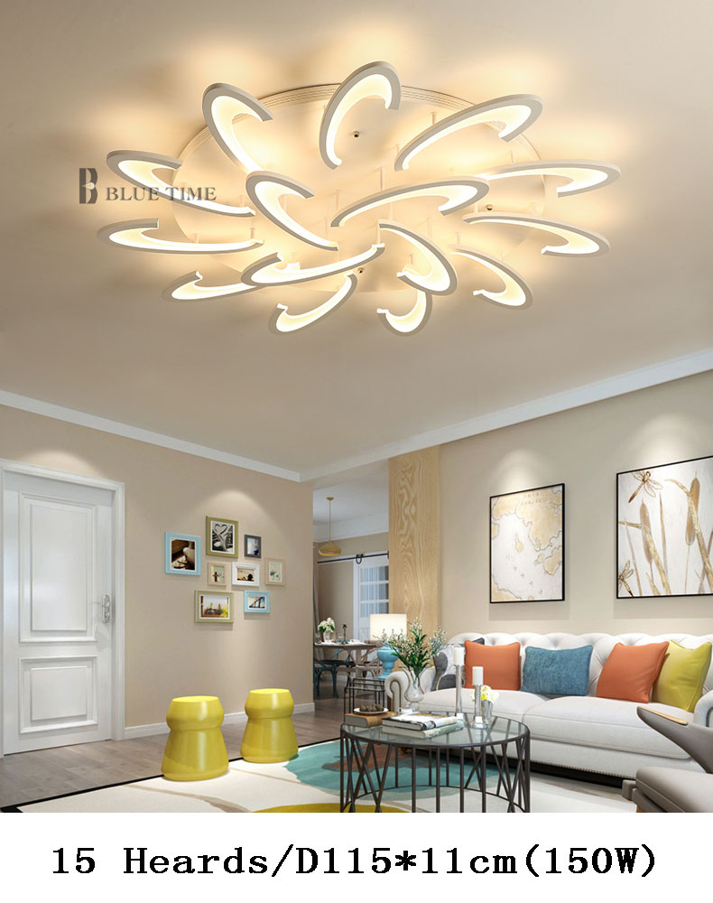 US $46.15 59% OFF|Acrylic Modern Led Chandeliers Living Room Bedroom  Dinning room LED Modern Led Chandelier Ceiling Mounting Lights Home  Lighting-in ...