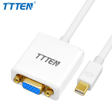 TTTEN Thunderbolt Mini DP to VGA Cable Adapter Mini DP Male to VGA Male Convertor Cable for MacBook Surface Pro/3 Chromebook