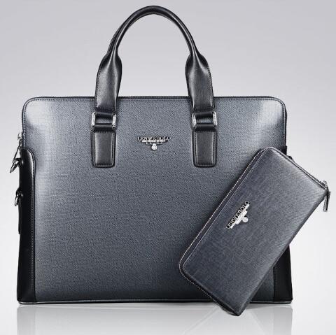 Brand designer dress business bag men s leather handbag office work bag men s briefcase high