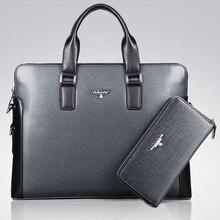 Brand designer dress business bag men's leather handbag office work bag men's briefcase high quality laptop shoulder bags B00023