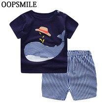 Baby Boy Clothes Summer Newborn Baby Boys Clothes Set Cotton Baby Clothing Suit (Shirt+Pants) Cartoon Infant bebe Clothes Set