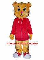 Hot Sell Like Hot Cakes Daniel Tiger Mascot Costume Daniel Tiger Fur Mascot Costumes fancy dress for birthday Halloween party