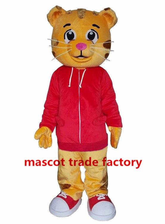Vente chaude comme des gâteaux chauds Daniel tigre mascotte Costume Daniel tigre fourrure mascotte Costumes fantaisie robe pour anniversaire Halloween fête