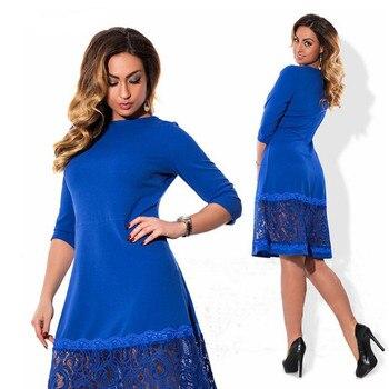 9193cc71dc0dd18 Product Offer. 5XL-6XL Элегантное синее женское платье больших размеров 2019  ...