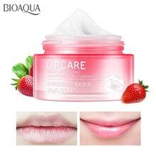 BIOAQUA Strawberry Lip Sleeping Mask Exfoliator Lips Balm Moisturizer Nourish Plumper Enhancer Vitamin Skin Care Night Cream