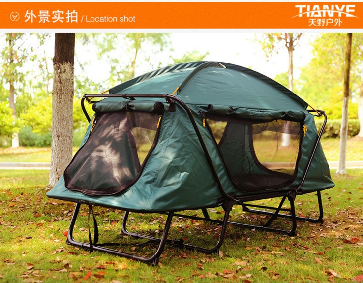 Free build mountain c&ing set up off the ground bed tent outdoor essential leisure multi function fishing tent-in Sun Shelter from Sports u0026 Entertainment ... & Free build mountain camping set up off the ground bed tent outdoor ...
