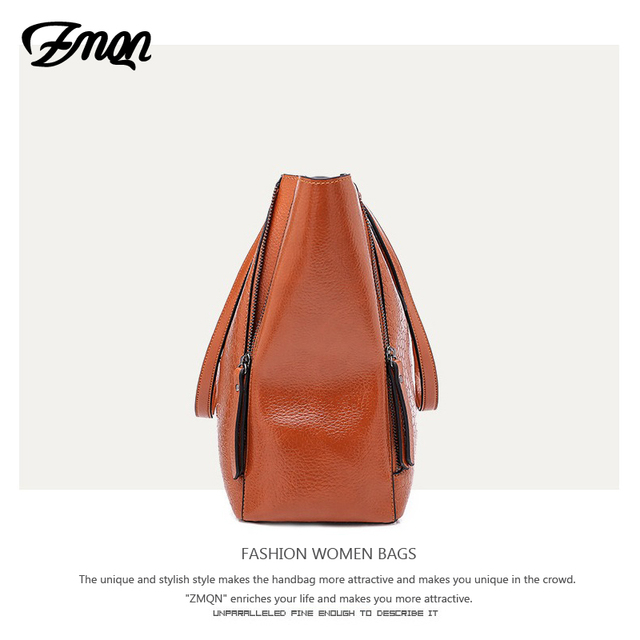 ZMQN PU Leather Large Designer Hand Bag 1