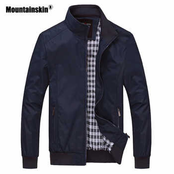 Mountainskin 2018 New Men's Jackets Autumn Casual Coats Solid Color Slim Fit Male Bomber Jacket Mens Brand Clothing 6XL SA529 - DISCOUNT ITEM  39% OFF All Category