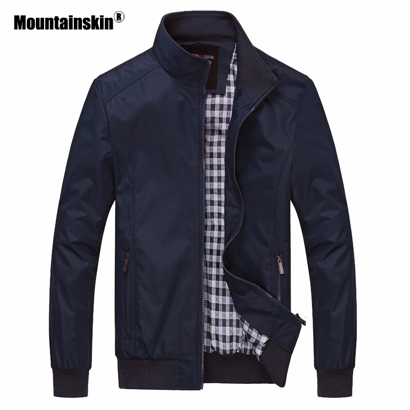 Mountainskin 2020 New Men's Jackets Autumn Casual Coats Solid Color Slim Fit Male Bomber Jacket Mens Brand Clothing 6XL SA529