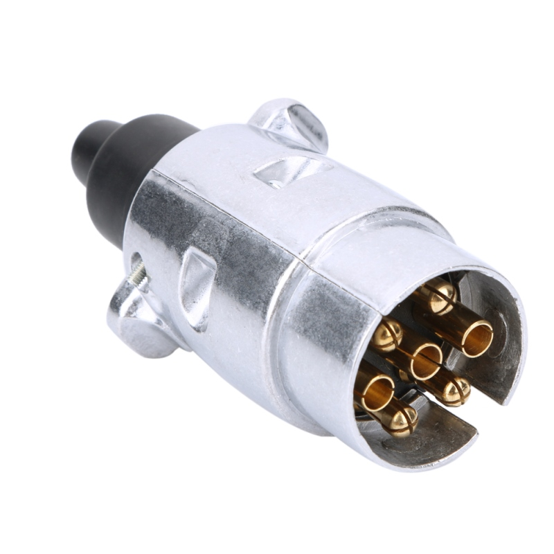 New 7 Pin Trailer Plug ROUND TRAILER CONNECTOR MALE AND FEMALE RV ...
