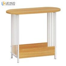 Двухслойный овальный журнальный столик из дерева в скандинавском стиле, столик для гостиной, диван, столик, маленький обеденный стол, маленький столик, мебель для дома