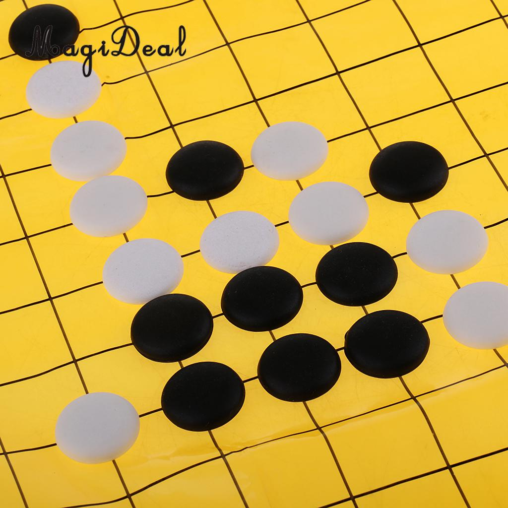 MagiDeal Chinese Ancient Entertainment Go Board Game Weiqi Baduk Full Set in Wood Box for Kids Adult Youth Puzzle Elderly Toy