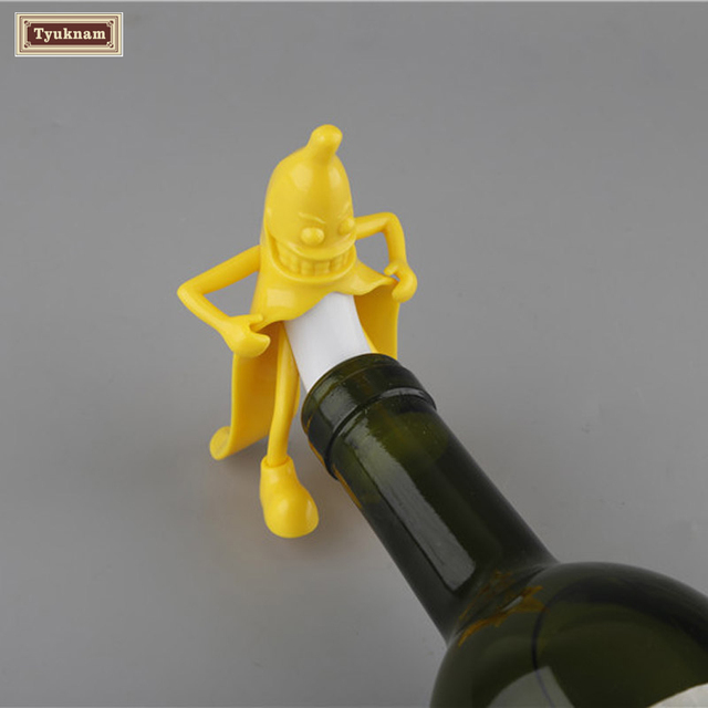 Hottest Wine Stopper Of The Year. MR. Banana Winestopper