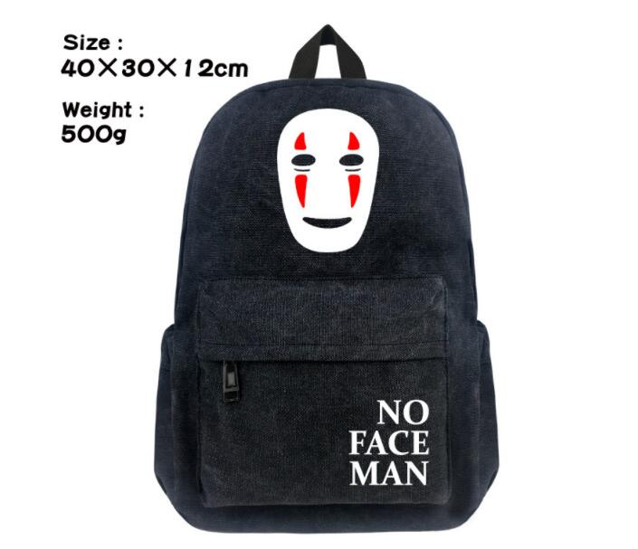 1 piece Game Miyazaki Hayao <font><b>Spirited</b></font> <font><b>Away</b></font> Cosplay <font><b>Backpack</b></font> No Face man totoro cartoon canvas School Bag image