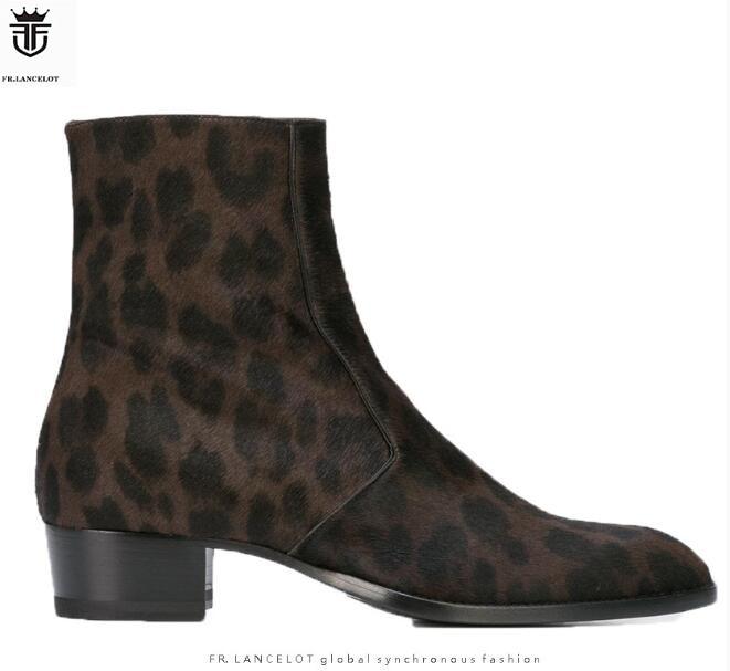 2019 Fr. Lancelot Luxus Qualität Echt Leder Männer Stiefel Rosshaar Mode Britischen Stil Chelsea Stiefel Stiefeletten Schuhe Kaufe Eins, Bekomme Eins Gratis