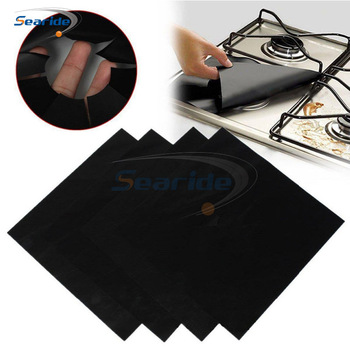 8 PCS Reusable Foil Gas Hob Range Stovetop Burner Protector Liner Cover For Cleaning Kitchen Tools 8 pcs reusable gas stove burner cover protector liner clean mat pad file injuries protection 2