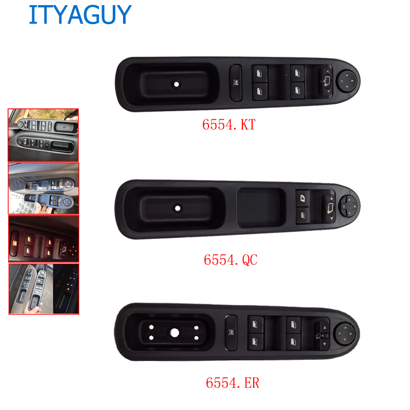 6554.KT/6554.ER Electric Power Window Control Switch For Peugeot 207 307CC 307SW 2003 2010 For Citroen C3 Picasso 6554.QC 6554QC|Car Switches & Relays| |  - title=