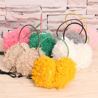 Winter Plush Warm Phone Headphones Ear Warmer Earmuffs Music Earphone Computer Headset Wired PC Over Ear