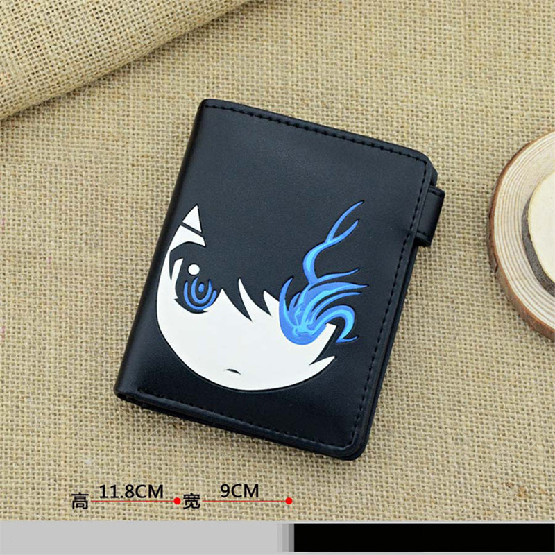 Japan Anime BRS BLACK ROCK SHOOTER Cosplay PU Leather Cartoon Wallet Purse Notecase Short Moneybag Free Shipping free shipping hot heat resistant party hair 120cm long black rock shooter black anime cosplay wig 2clip on ponytail
