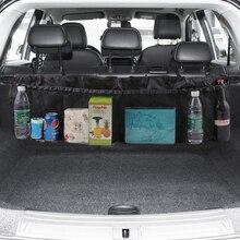 Auto Stamm Zurück Sitz Organizer Tasche SUV Net Mesh Lagerung Verstauen Aufräumen Floding Taschen Trash Automobil Taschen In Autos Zubehör