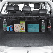 רכב Trunk מושב אחורי ארגונית תיק SUV נטו רשת אחסון Stowing לסדר Floding כיסים אשפה רכב שקיות במכוניות אבזרים