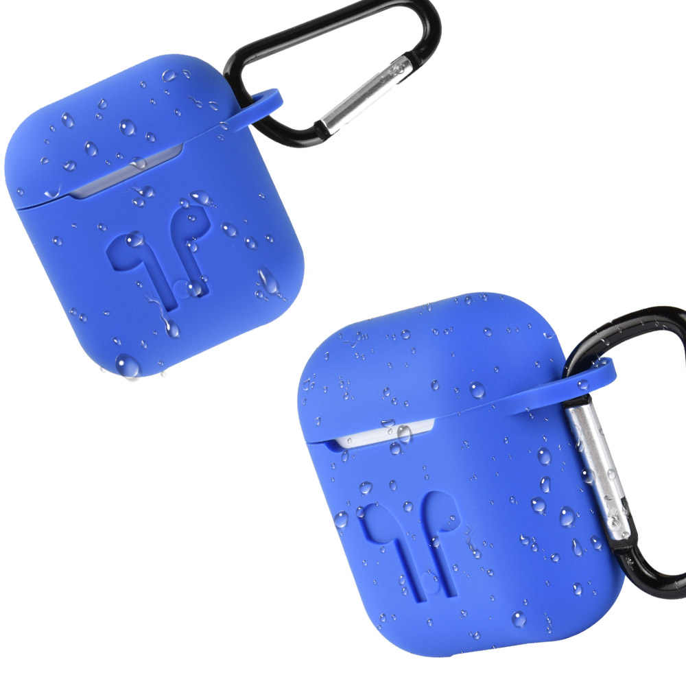 Funda de auriculares de silicona a prueba de golpes gancho para AirPods de Apple