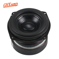 GHXAMP 3 inch 3OHM Full Range Speaker Woofer Unit PC Home Theater Boombox Aluminum Basin Rubber Side 30W 1PCS