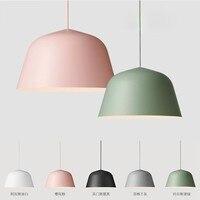 Creative Nordic White Black Pink Aluminum Pendant Light Modern Simplicity Style Bar Restaurant Foyer Dining Room