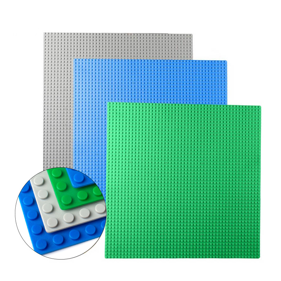 3 Colors 32*32 Dots Base Plate for Small Bricks Baseplate Board Compatible Legoed figures DIY Building Blocks Toys For Children 32 32 dots plastic bricks the island straight crossroad curve green meadow road plate building blocks parts bricks toys diy