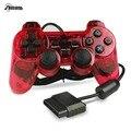 Original 1.5 m com fio duplo de vibração do controlador gamepad para sony playstation 2 ps2 controlador dualshock 2 consola joystick vermelho