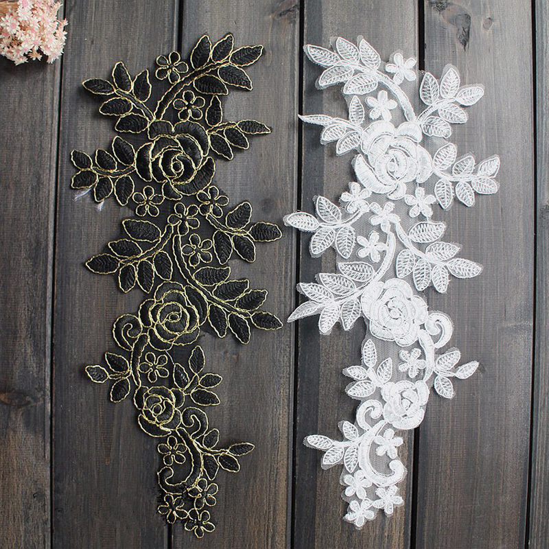 Brave 1 Yard Multi Handmade Flower Embroidery Lace Trim Tulle Wedding Hair Bow Clothes Diy Craft Lace Fabric Sewing Buy One Give One Lace